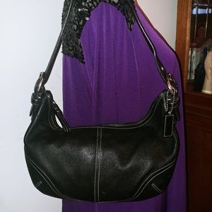 COACH SOFT LEATHER SATCHEL HOBO HANDBAG